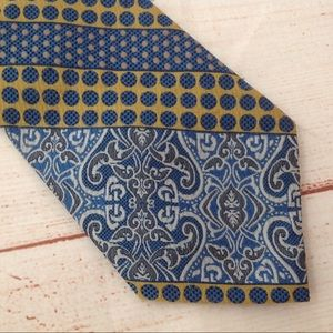Vintage 70s Ward Boho Print Clip On Neck Tie
